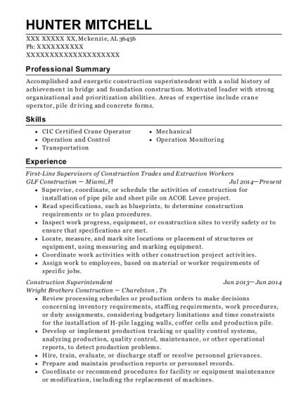Best Construction Superintendent Resumes ResumeHelp