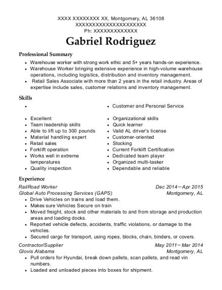 best railroad worker resumes resumehelp