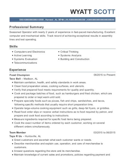 best test operator resumes resumehelp