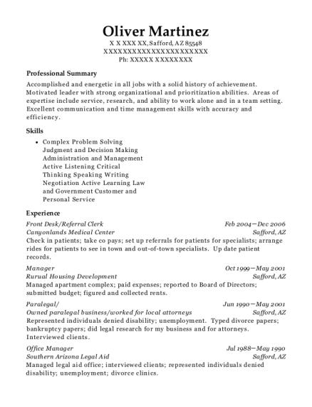 best referral clerk resumes resumehelp