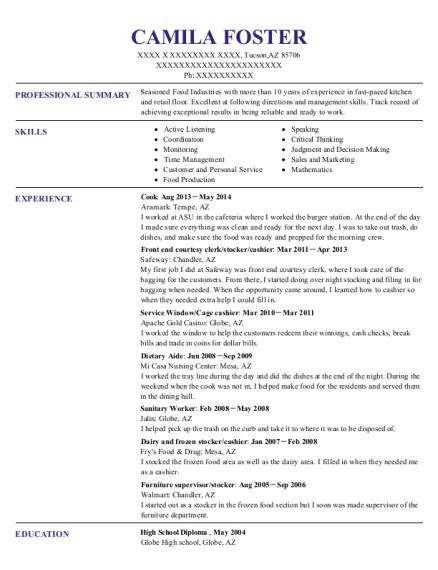 best front end courtesy clerk resumes resumehelp