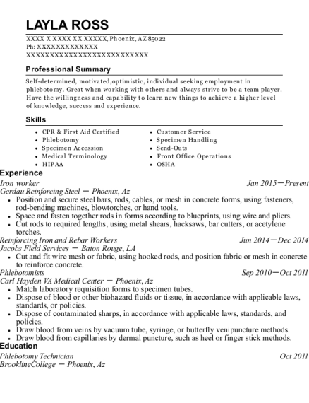 Reinforcing Iron And Rebar Workers. Customize Resume · View Resume
