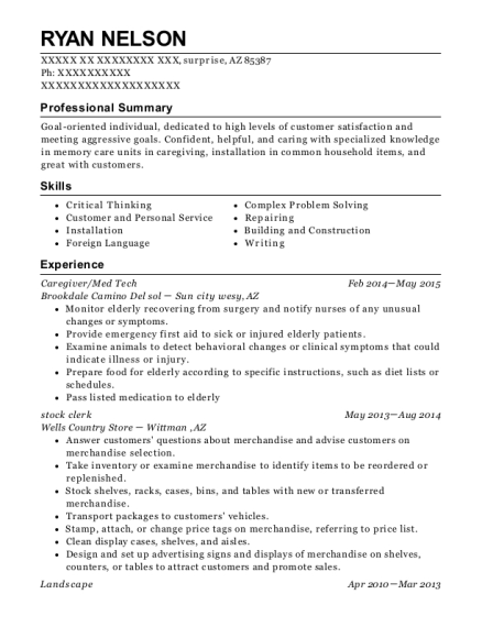 Ryan Nelson  Med Tech Resume