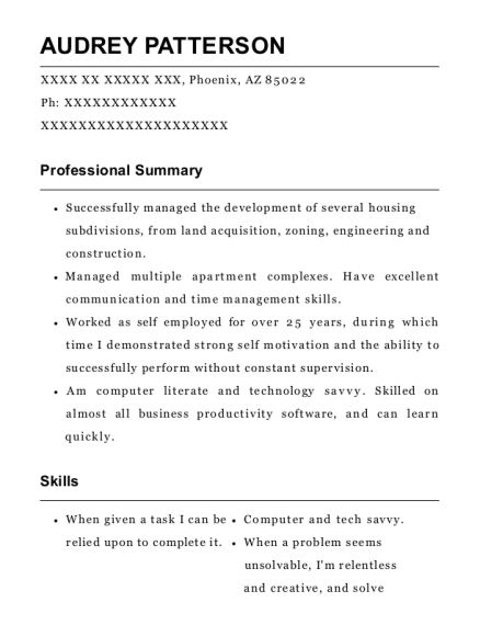 Self Employed Consultant Independent Contractor Resume Sample ...