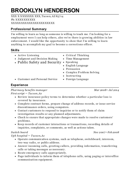 Brooklyn Henderson  Pharmacy Manager Resume