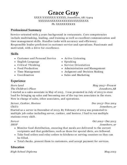At&t Cellphone Retailer Store Lead Resume Sample - Round Rock Texas ...