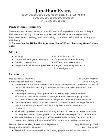 Best Social Work Supervisor Resumes | ResumeHelp