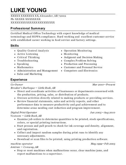 Digital Print Operator , Aftermarket Coordinator. Customize Resume · View  Resume