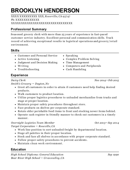 People Also Search For. Customize Resume · View Resume. Dairy Clerk