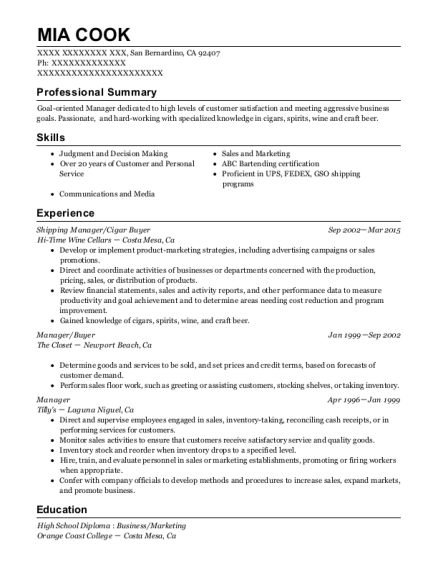 check into manager resume sle greenville south