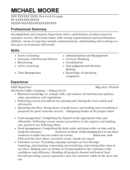 Pls Check Cashers Shift Supervisor Resume Sample Arlington Texas