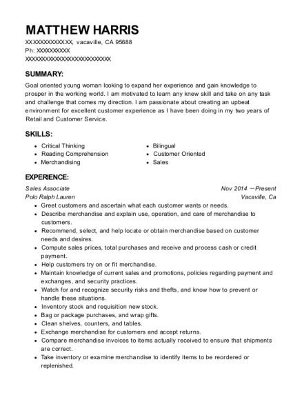 burlington coat factory cashier  shoe associate resume