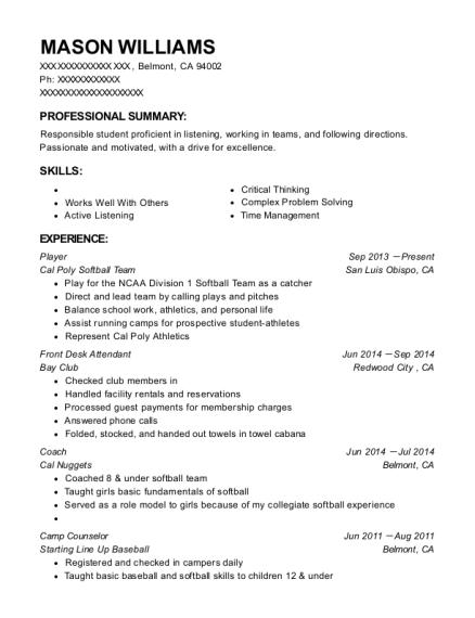 Best Varsity Womans Basketball Player Resumes ResumeHelp - Basketball player resume