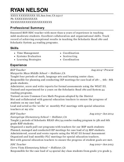 Best Sdc Teacher Resumes | ResumeHelp