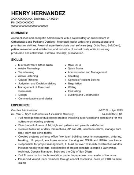 Best Practice Administrator Resumes Resumehelp