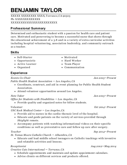 yale resource office on disabilities note taker resume