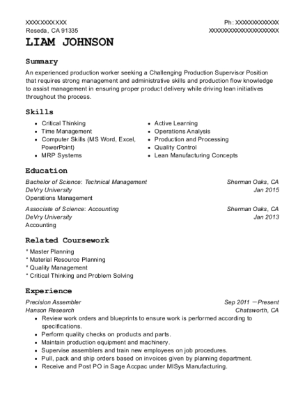 mechanical assembler resume objective june 2020