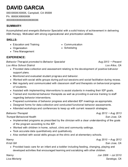 Beautiful High Quality View Resume. Behavior Therapist Promoted To Behavior Specialist
