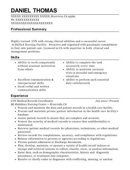 Best Lvn Case Manager Resumes | ResumeHelp