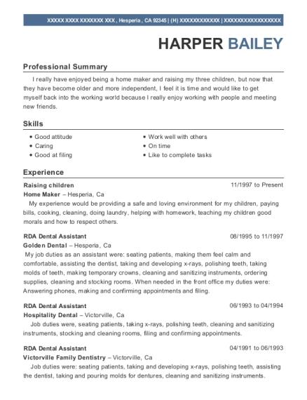 best rda dental assistant resumes resumehelp