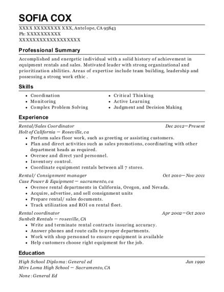 best rental coordinator resumes resumehelp