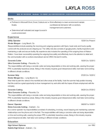 Best Concrete Cutter Resumes | ResumeHelp