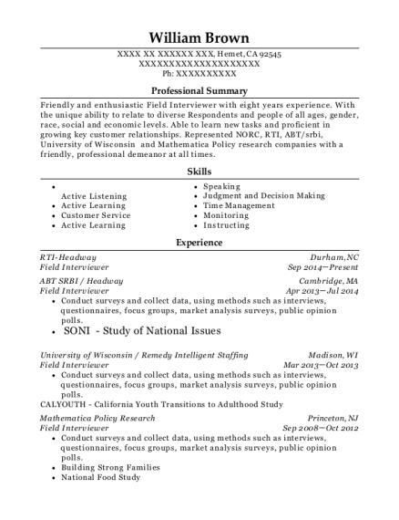 interviewer resume