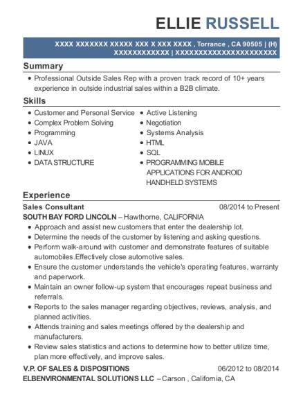 best senior sales engineer resumes resumehelp