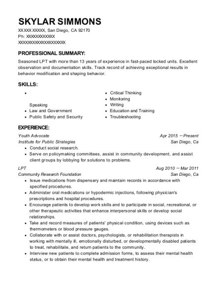 Best Lpt Resumes | ResumeHelp