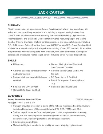 Best Protective Security Officer Resumes | ResumeHelp