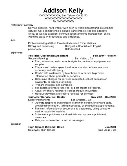 Best Facilities Coordinator Resumes   ResumeHelp