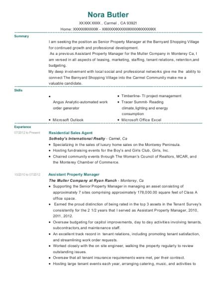 Best Residential Sales Agent Resumes | ResumeHelp