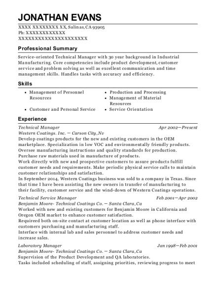 Best Technical Service Manager Resumes Resumehelp