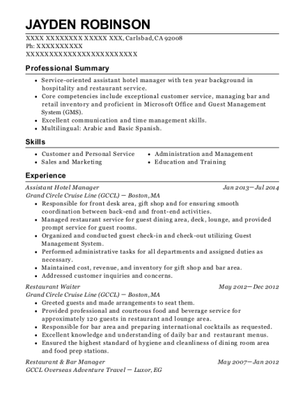 best restaurant bar manager resumes resumehelp