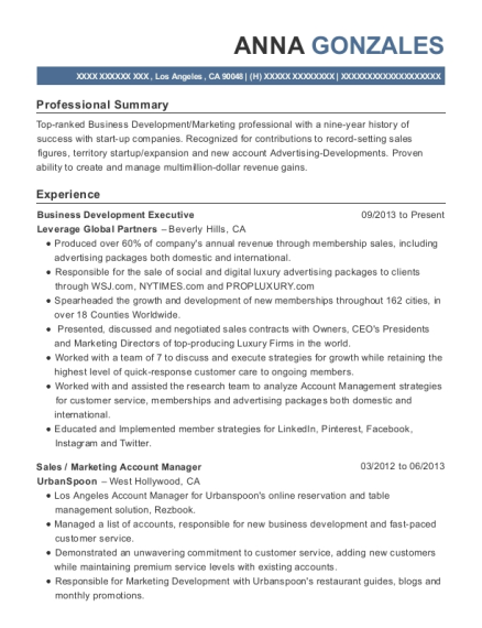 Executive Assistant , Business Development Executive. Customize Resume ·  View Resume