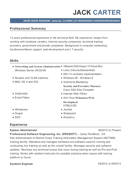 network support engineer resumes