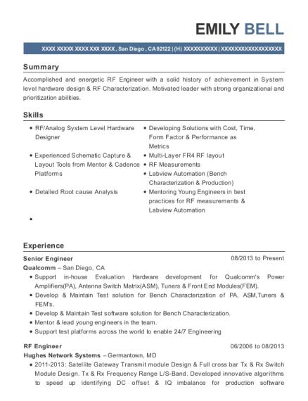 Best Rf Engineer Resumes | ResumeHelp