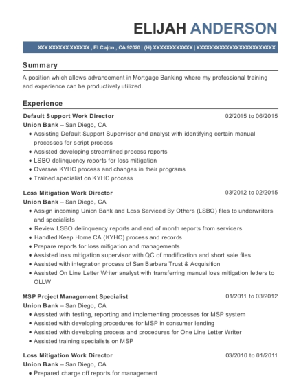 Customer Assistance Specialist , Loss Mitigation Specialist. Customize  Resume · View Resume