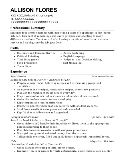 Best Campground Manager Resumes | ResumeHelp