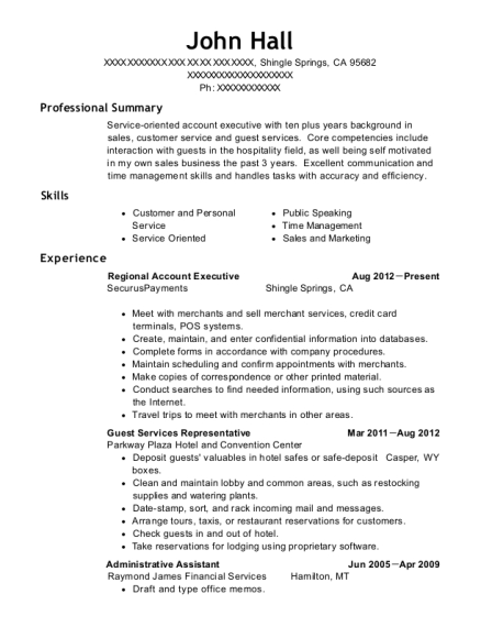View Resume. Regional Account Executive