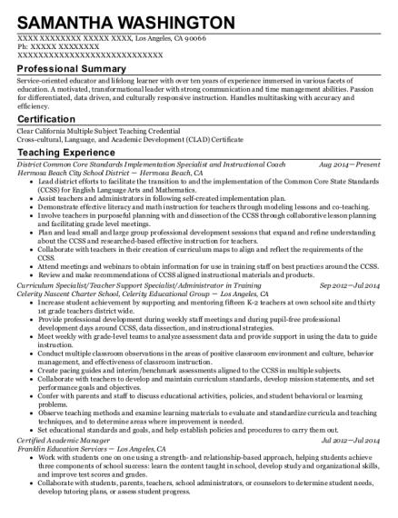 Best Certified Academic Manager Resumes   ResumeHelp
