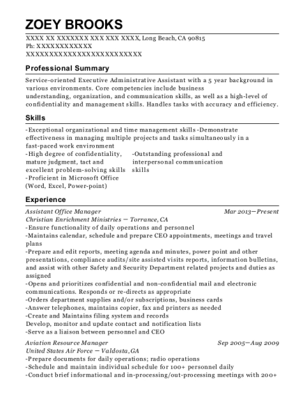 Best Aviation Resource Manager Resumes | ResumeHelp