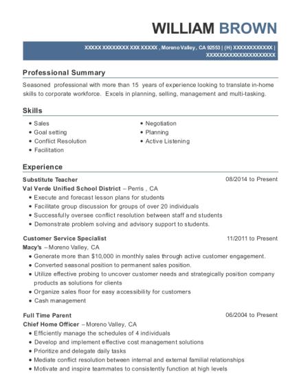 Best Full Time Parent Resumes | ResumeHelp