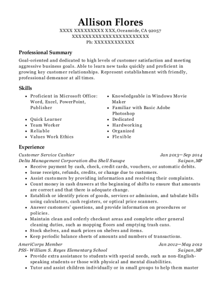 best americorps member resumes