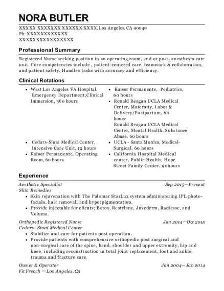 best aesthetic specialist resumes