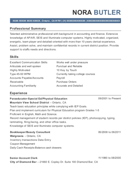 Awesome School District Accounting Resume Pictures - Best Resume ...