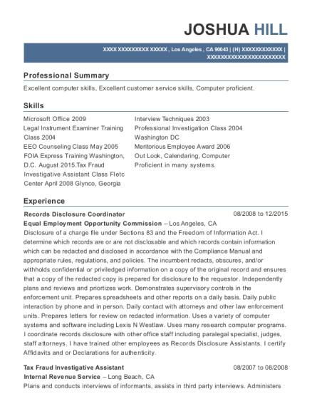best legal instruments examiner resumes resumehelp