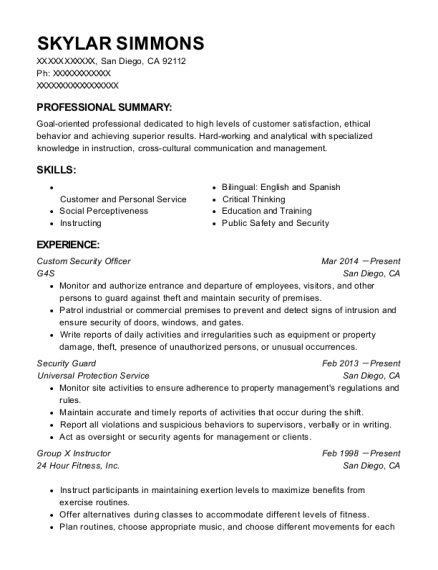 Best Group X Instructor Resumes | ResumeHelp