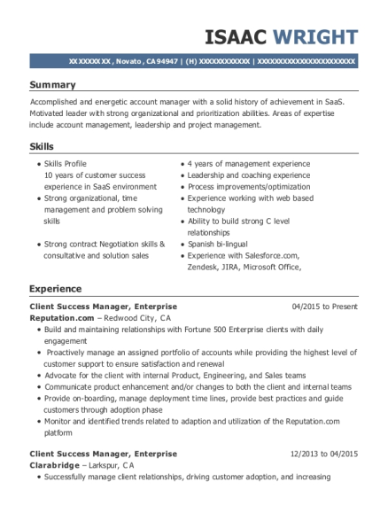 best client success manager resumes resumehelp