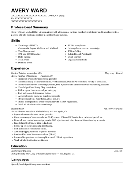Practice Administrator , Medical Reimbursement Specialist. Customize Resume  · View Resume
